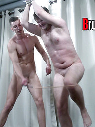 Cute and angry young Master Billy returns to thrash and humiliate this worthless sub.